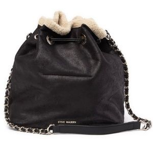 Steve Madden Bucket Faux Fur Lined Shoulder Bag